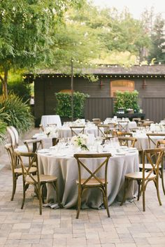 Outdoor reception at the Vintage Estate In Yountville, California