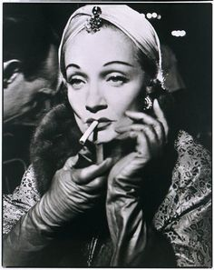 marlene dietrich...she makes smoking cool!