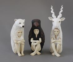 Striking Ceramic Sculptures of Human-Animal Hybrids Explore Relationship Between People and Nature - My Modern Met