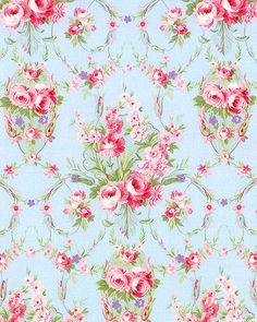 Emma's Garden - Rose Garland Grace - Powder Blue