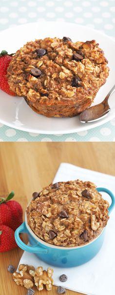 Banana Coconut Bread Baked Oatmeal | The Breakfast Drama Queen Healthy Oatmeal Recipes, High Protein Recipes, Banana Recipes, Healthy Desserts, Delicious Desserts, Yummy Food, Healthy Foods, Healthy Eating, Breakfast Snacks