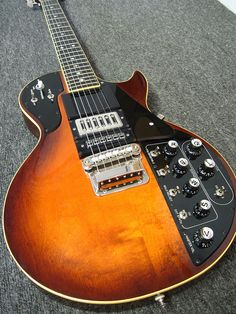 Roland Synth Guitar - RESEARCH: DdO:) MOST POPULAR RE-PINS - via cSw - http://www.pinterest.com/claxtonw/4-5-6-strings/ In early '80s before MIDI specification adopted, Roland offered series of guitars w built-in hex pickups to use with the GR-300 analog synthesizer- applied analog synthesizer-style sound shaping to sounds from hex-fuzz generator built into guitar. The guitars designed as controllers for the GR-300 used an impressive 24-conductor cable w massive connectors to interface.
