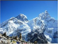 Mount Everest is the Earth's highest mountain. It is located in the Mahalangur section of the Himalayas. Its peak is 8,848 metres above sea level and is the 5th furthest point from the centre of the Earth.