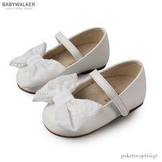 Γοβάκια Λευκά με Δαντελένιο Φιόγκο Babywalker BS3541 Συσκευασία efb68a627b7