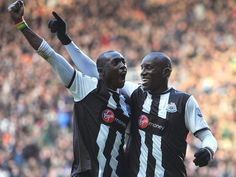 Double Demba - Howay the Lads! Newcastle United Football, Motorcycle Jacket, The Unit, Baseball Cards, Sports, Hs Sports, Sport