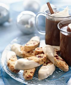 I don't even bother with dipping them in white chocolate.  They are still yummy with a cup of coffee with a little Bailey's - Oh Yeah!