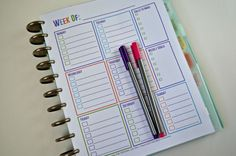 Free Printable Calendars for Your Filofax, Household Binder, Arc Notebook, etc... - Planning Inspired