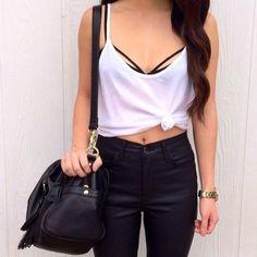 black bralette outfit tumblr - Buscar con Google
