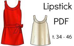 "Patron Robe/Top ""Lipstick"" - PDF (34-46) from Chut Charlotte !"