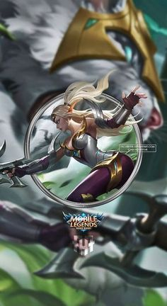Wallpaper Phone Irithel Silver Cyclone by FachriFHR on DeviantArt Mobile Legend Wallpaper, Hero Wallpaper, Hd Wallpapers Of Cars, Wallpaper Dekstop, Alucard Mobile Legends, Moba Legends, Special Wallpaper, The Legend Of Heroes, Warrior Girl