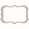 Cookie Cutter Fancy Plaque Rectangle  4.25 X 3, Copper