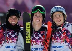gus kenworthy joss christensen nick goepper   Olympic freestyle skiers. 1st 2nd and 3rd