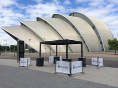 Temporary Smoke Spots installed at the Hydro Glasgow
