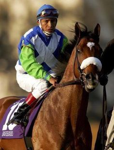 Kentucky Derby Winner Barbaro and his jockey Edgar Prado