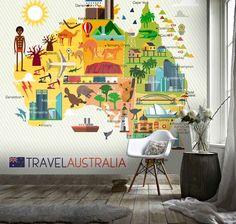 (1) 3D Cartoon Map Australia Wall Mural Wallpaper 17 – Jessartdecoration Kids World Map, Map Wallpaper, Australia Map, 3d Cartoon, Removable Wall, Peel And Stick Wallpaper, Textured Walls, Wall Prints, Your Space