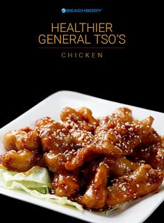 Try this healthier version General Tso's Chicken to enjoy the same taste of the Chinese food takeout classic for only 183 calories per serving! // healthy recipes // eat clean // cheat clean // copycat recipes // high protein // lunches // dinners // weekend meals // Beachbody // BeachbodyBlog.com