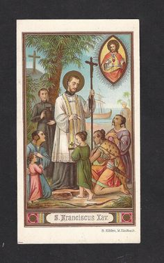Antique St. Francis Xavier Holy Card. Beautiful by Divinegiftshop, $12.00