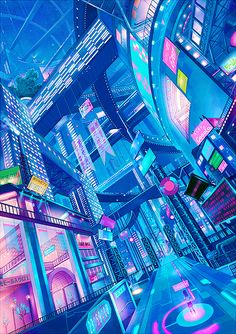 Vaporwave future? Would love to see the artist for this mentioned