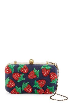 a679c524c3c Beaded Strawberry Hard Case Clutch