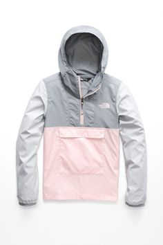 The North Face Big Girls Anorak Jacket - Pink Salt North Face Girls, North Face Women, The North Face, Anorak Jacket, Jackets Online, North Face Jacket, Active Wear, Jackets For Women, Cute Outfits