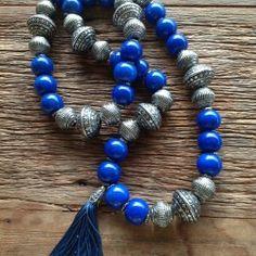 Terço de mesa de jade azul/ R$210,00 codigo tm0003