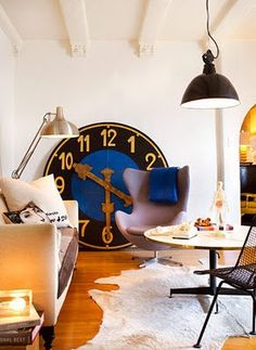 I want this clock for my kitchen!Isn't it great?!