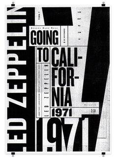 Led Zeppelin Poster Series on the Behance Network