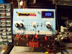 prototype power station with voltmeter and freq counter