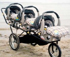 Triple Decker Stroller works with Graco car seats. Not much to look at, but... looks like a good jogger.