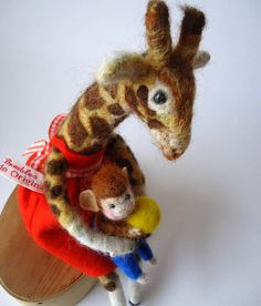 Friends forever... needle felted by artist  MissBumbles on etsy.com