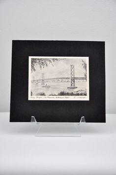 Vintage Seal Rocks Black & White Print by E. Handel San Francisco ...