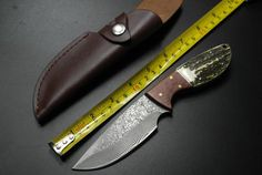 Wizard DM-02 Damascus Knife Antler Handle Outdoor Survival Hunting Tactical Knife(China (Mainland))