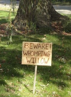 Harry Potter - I want to plant a willow tree just so I can put up this sign! :)