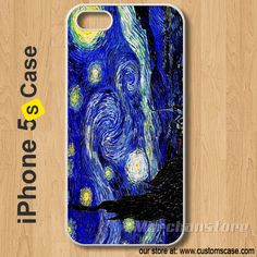 iPhone 5S Case Starry Night Painting - Hard Cover Iphone 5s, Iphone Cases, 5s Cases, Samsung Galaxy, Acoustic, Cover, Guitar, Painting, Vintage