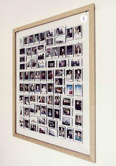 """Rodrigo Ladeira - Casa Aberta - """"Fiz um intercâmbio e um mochilão que duraram pouco mais de seis meses. Para recordar coloquei polaroids de cada amigo e lugar em um quadro."""""""