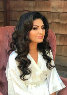 Classic Hollywood waves on long brunette hair Natural glam makeup Hair and Makeup by Seventh Avenue Beauty Long Curly Wedding Hair, Wedding Curls, Formal Hairstyles For Long Hair, Curls For Long Hair, Evening Hairstyles, Long Hair Wedding Styles, Vintage Wedding Hair, Wedding Hair Down, Bride Hairstyles