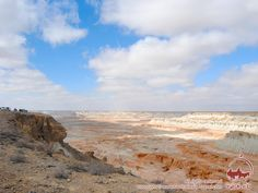"""Yangikala Canyons are a must-see in Turkmenistan (#CentralAsia).   In Turkmen language #Yangikala sounds as """"fiery fortresses"""". Surrealist shapes of Yangikala #Canyons are unforgettable! Sunset and sunrise are the best times for a visit Yangikala Canyons."""