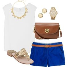 white // blue // jack rogers sandals