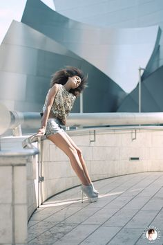 Ndoema sports metallic coated denim mini shorts   Topshop silver metallic platform booties   Vintage sequin cropped top   Neoteric gold vermeil double ring by Maison Antonym