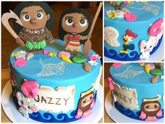Moana Cake 🐔🐷🌊
