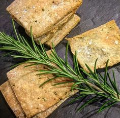 Rosemary and sea salt buckwheat crackers