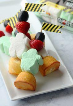Ghostbusters Marshmallow Fruit Skewers