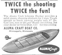Aluma Craft Lifetime Ducker 1953 Ad via Waterfowl Hunting, Duck Hunting, Outboard Boat Motors, Boat Companies, Electric Boat, Duck Boat, Hunting Blinds, Old Magazines, Old Ads