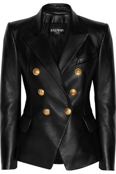 BALMAIN Double-breasted leather blazer $4,080.00 http://www.net-a-porter.com/products/512682