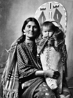 Lizzy Randall Edmo & child. Shoshone Idaho..this my great grandmother...beautiful picture
