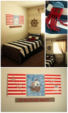 Boy's Pirate themed room on a budget!