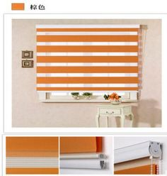 2014 Included Curtains Novel Coming Thickening Cylinder Shutter Doubled Layer Semi-darkness Blinds The Finished Curtain Zebra unchained Shipping