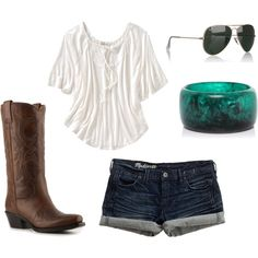 perfect outfit for a country concert!! -created by emcgann11 on Polyvore