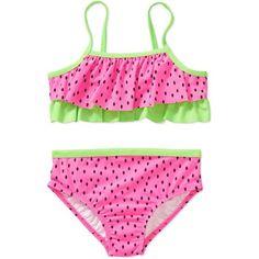 OP Baby Toddler Girl Fashion Watermelon Seeds Bikini Swimsuit