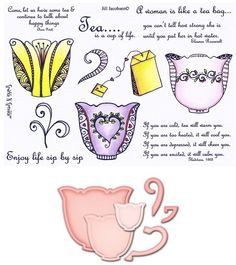 Stamp Set 464 - Zendoodle Tea Combo Set
